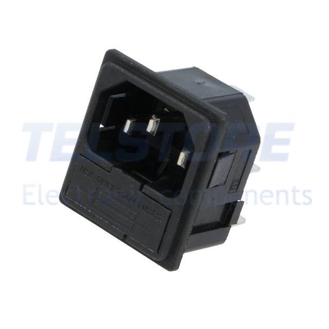 1pcs  Connettore di alimentazione AC spina nero 16A 250VAC TELSTORE