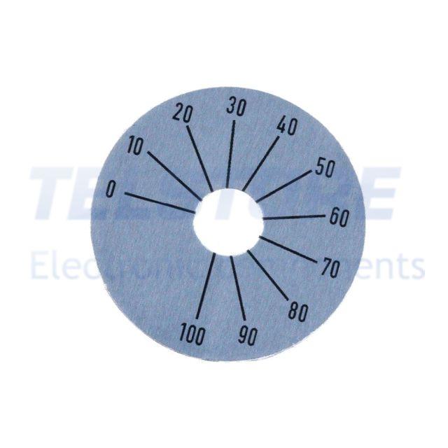 4-pcs-I5725-Scala-graduata-Campo-270-da-0-a-100-45mm-Diam-foro-10mm-TELSTORE
