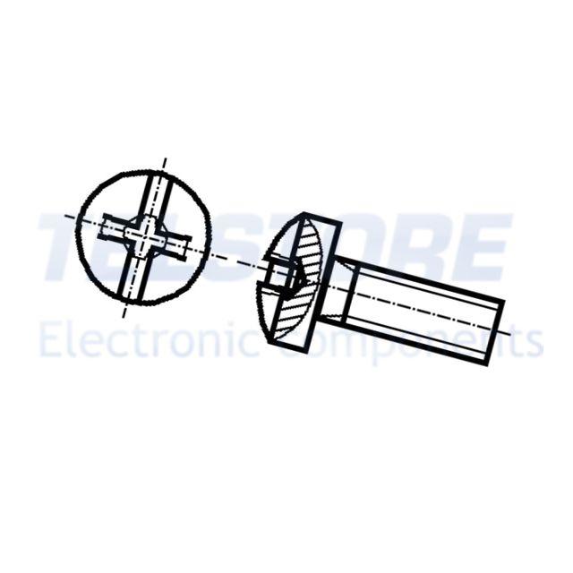 a taglio acciaio TELSTORE 100pcs  Vite M2x6 Testa sferica Incisione Phillips