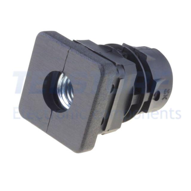 3pcs  Tappo per profili Corpo nero H 34mm Mat plastica L 30mm