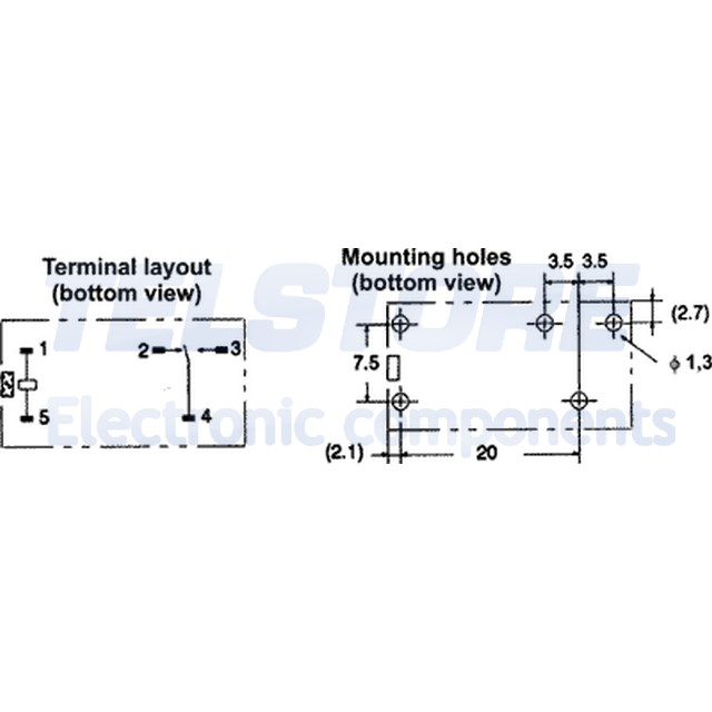 1pcs G2R-1-12DC Relè elettromagnetico SPDT Ubobina 12VDC 10A//250VAC toff 5ms OMR